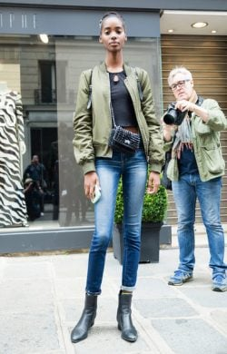 Models Off-Duty Looks Shoes At Haute Couture Fall 2016