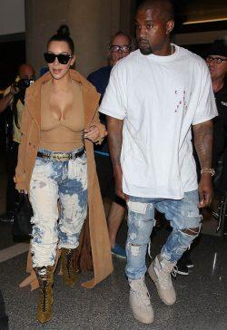 Kim Kardashian boots