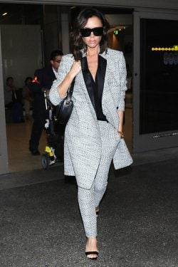 Victoria Beckham's Airport Style