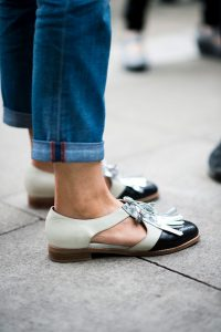 Street shoes at London fashion week spring summer 2017