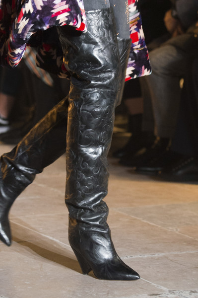 Celebrity leather boots