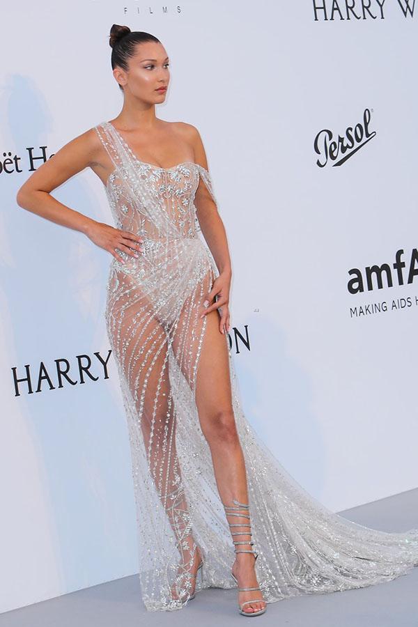 Bella Hadid Leg Wrap Sandals In Cannes