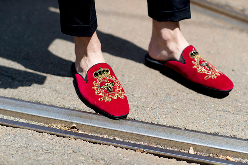 Street shoes at Milan menswear spring 2018
