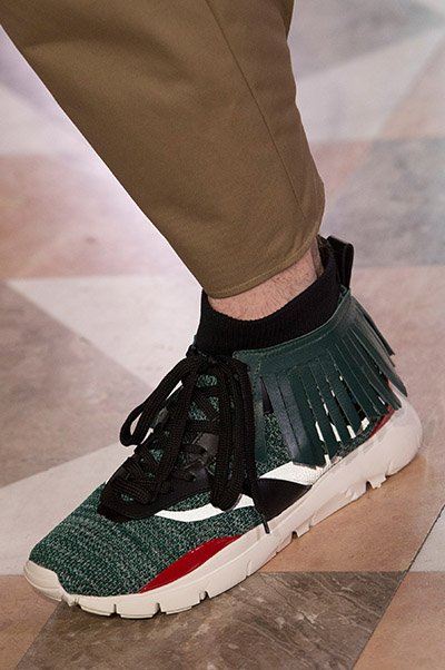 Valentino Men Shoes Spring 2018 are tribal influenced sneakers