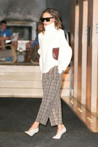 Victoria Beckham Wear Glove Shoes With Everything