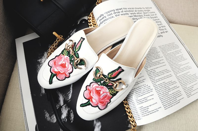 Embroidery shoe trend