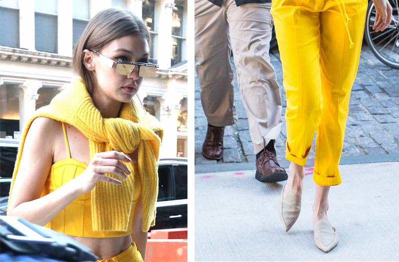 Gigi Hadid Mule Loafers Street Style