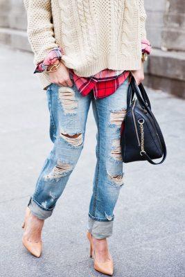 plaid shoe trend