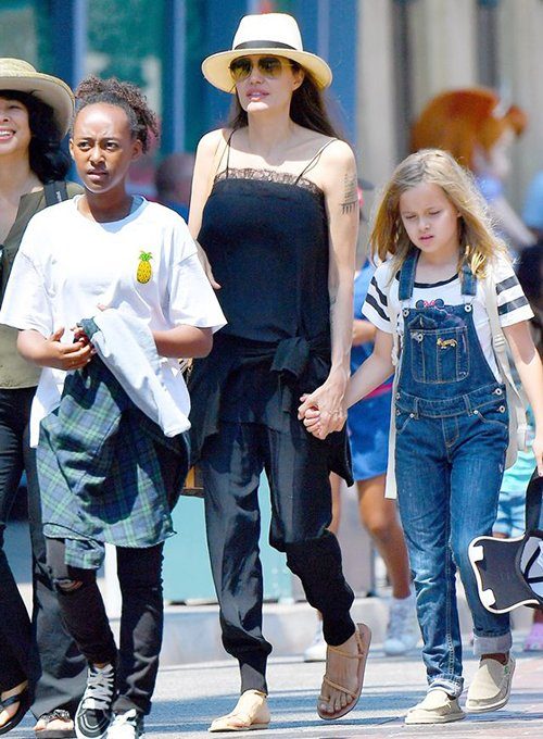 Angelina Jolie Flat Sandals