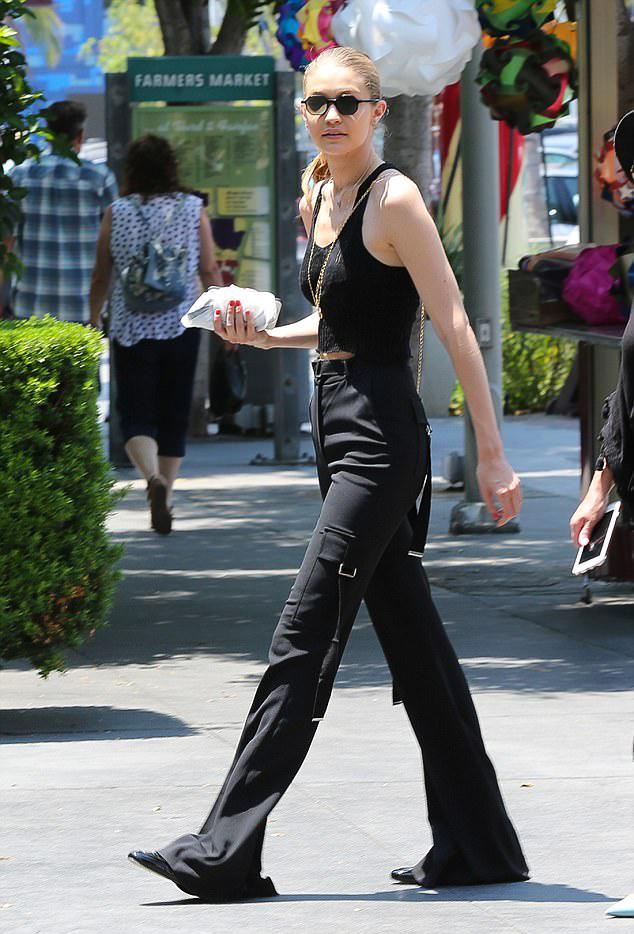 Gigi Hadid Mule Loafers Mini Bag Street Styles