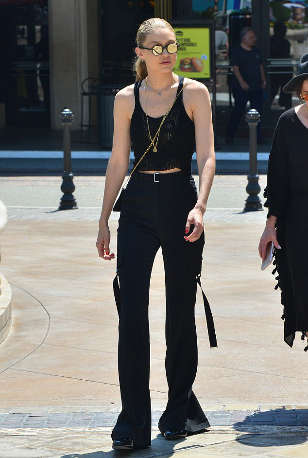 Gigi Hadid Mule Loafers Mini Bag Street Styles