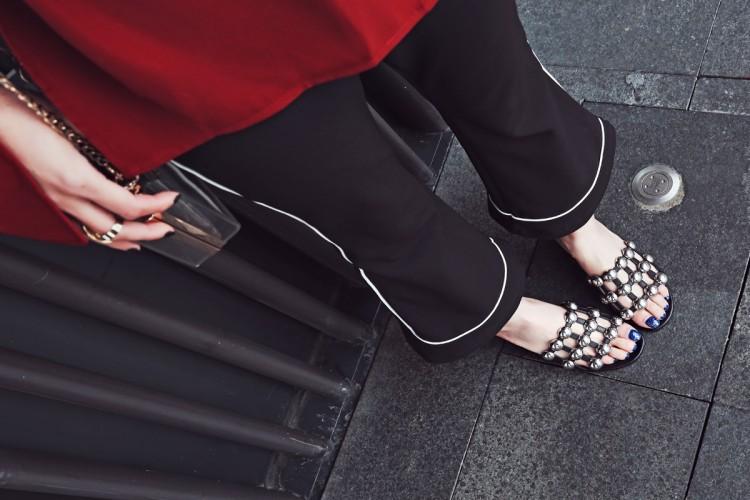 Studded Sandal Slides