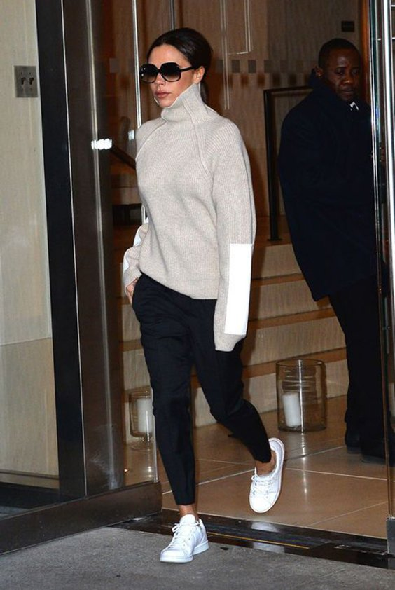 Victoria Beckham Street Styles In Flat Shoes Chiko Shoes