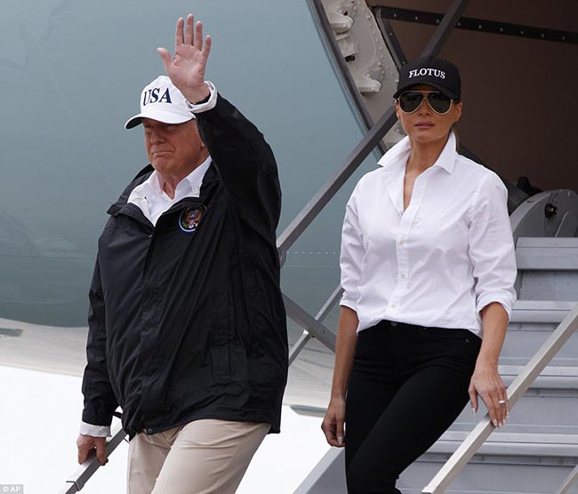Melania Trump Shoe Switch Made A Headline Today