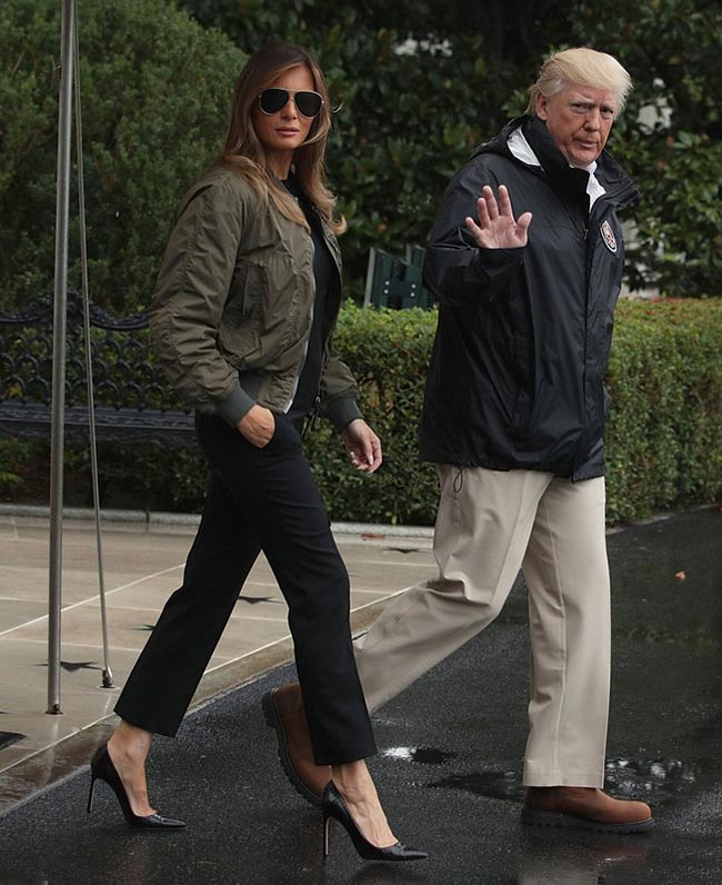Melania Trump Shoe Switch Made A Headline Today