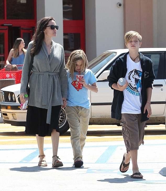 Angelina Jolie flat sandals shopping style