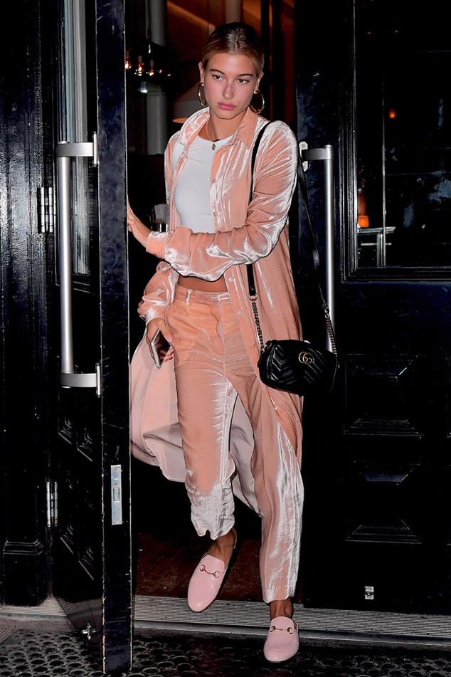 Hailey Baldwin millennial pink