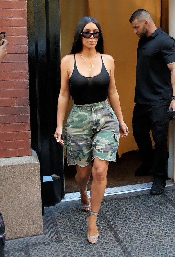 Kim Kardashian street style in sheer top and boots | Chiko ...