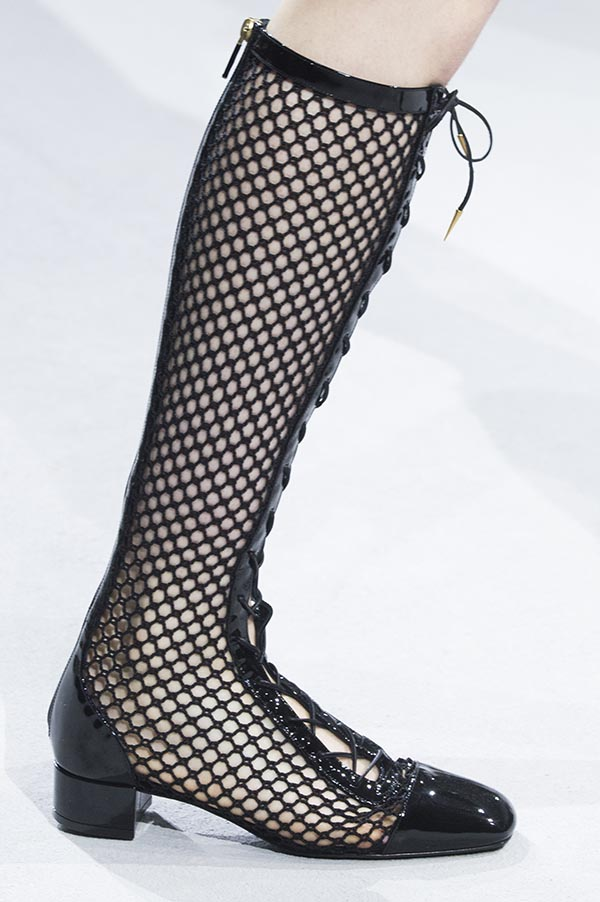 e988a54bc26 Dior shoes spring 2018 are about fishnet, comfortable and young