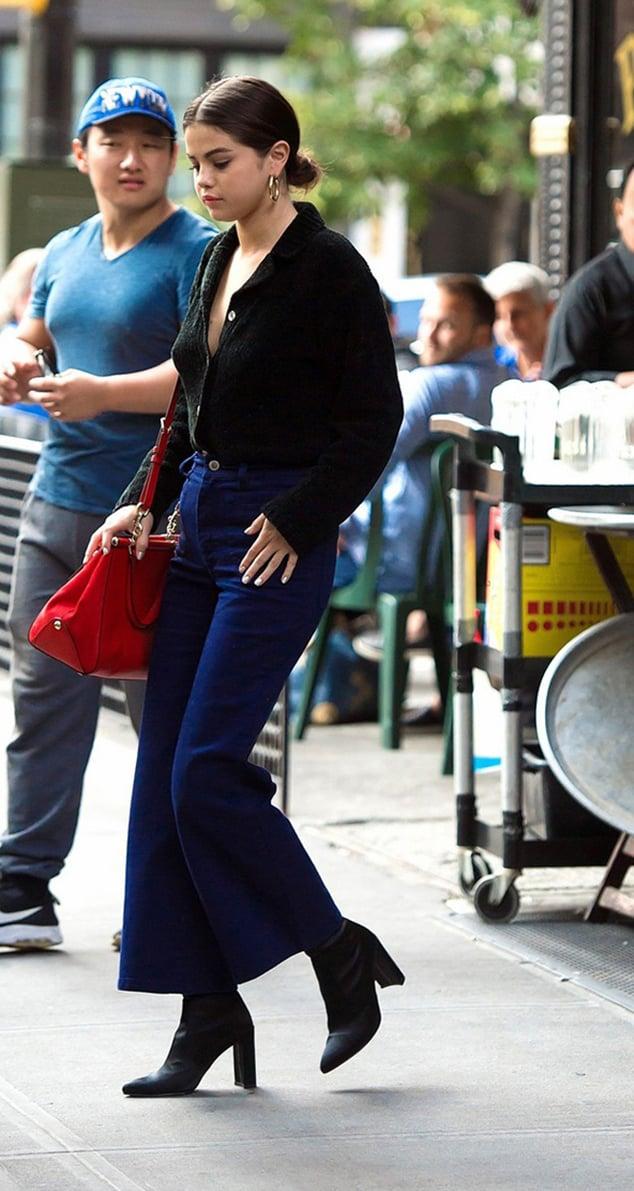 Selena Gomez ankle boots