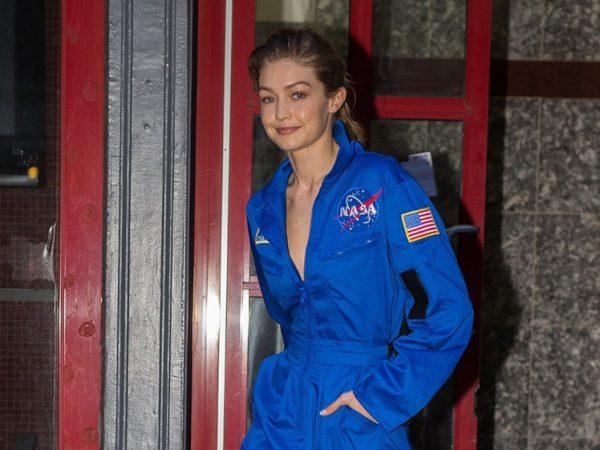 Gigi Hadid NASA space suit combat boots street style