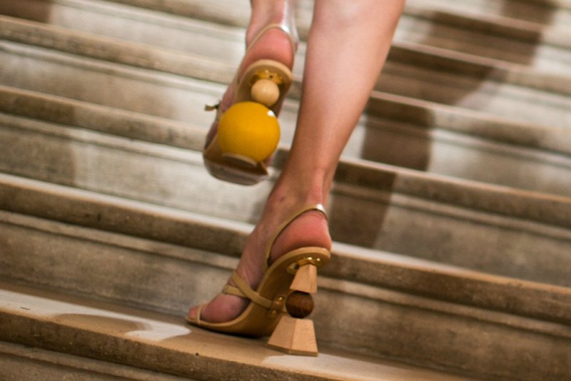 Jacquemus Mismatched Shoes Spring 2018