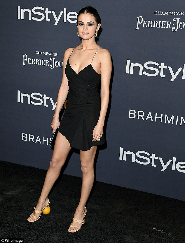 Selena Gomez Jacquemus Mismatched Shoes Spring 2018