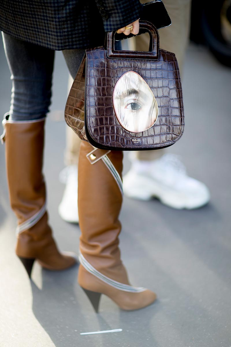 Street shoes bags Paris fashion week spring 2018