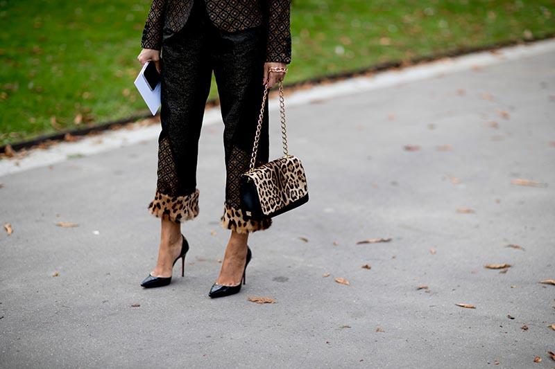 Street shoes bags Paris fashion week spring 2018