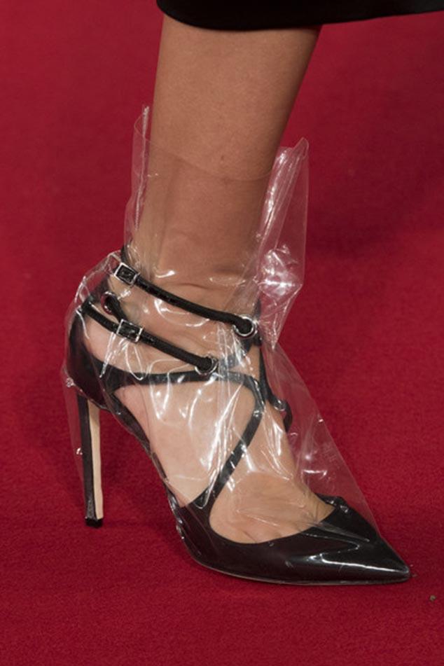 Rihanna clear shoe street style
