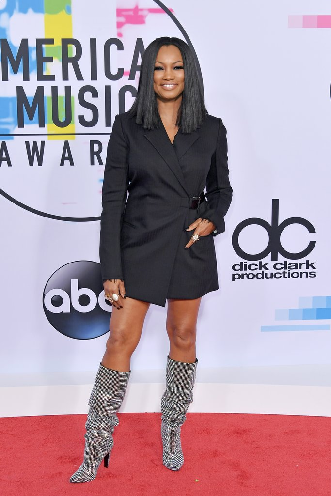 Garcelle Beauvais red carpet shoes at American Music Awards 2017
