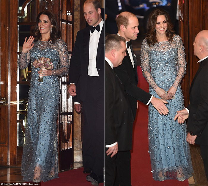 Kate Middleton glitter pumps style at Royal Variety Performance