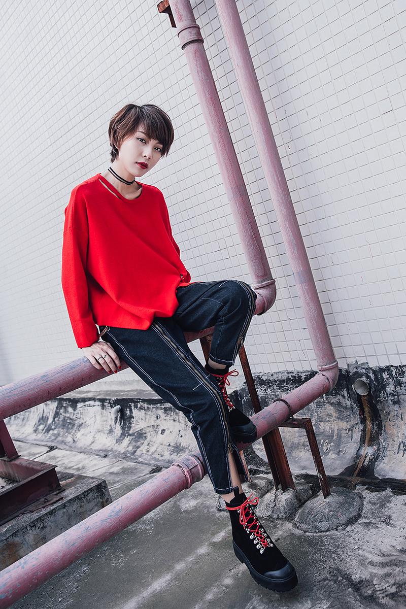 CHIKO SHAQUELL BLOCK HEEL COMBAT BOOTS