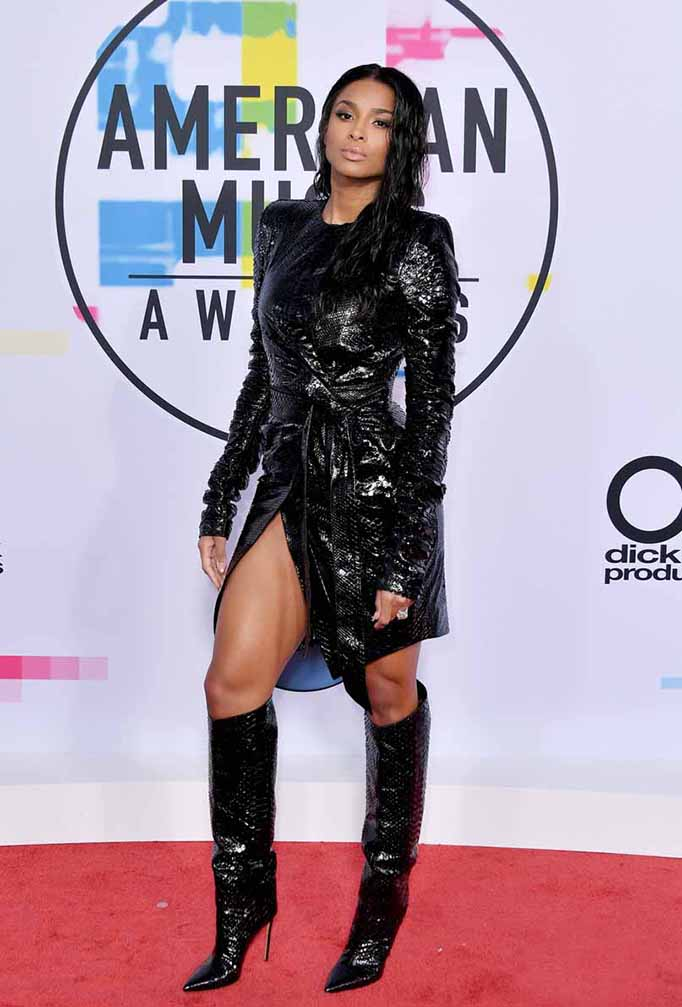 Ciara red carpet shoes at American Music Awards 2017