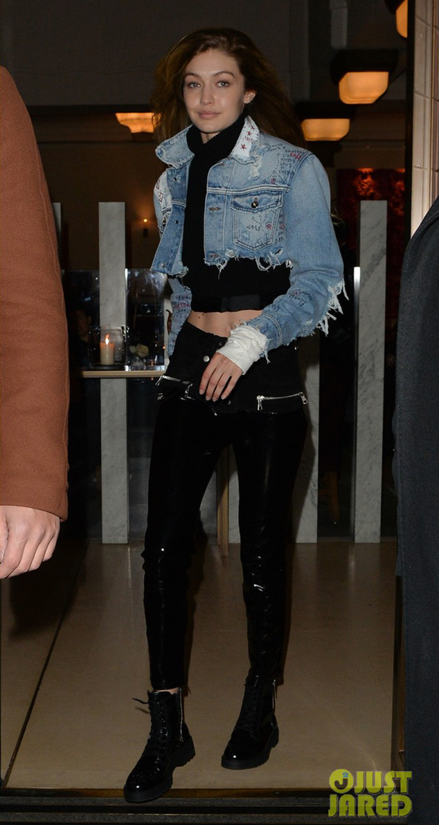 Gigi Hadid combat boots styles