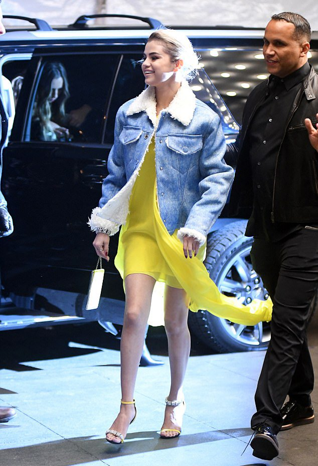 Selena Gomez mismatched shoes