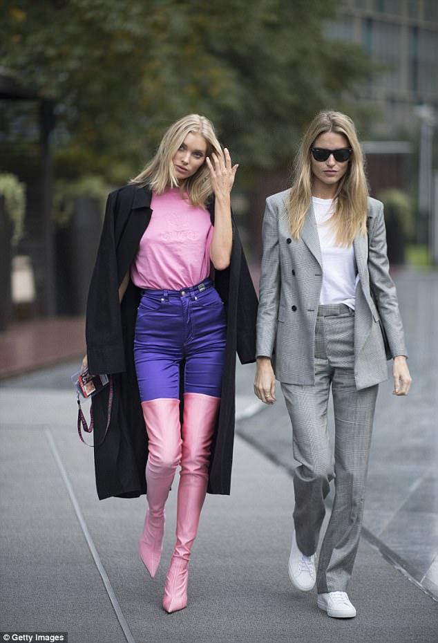 Victoria Secret models street styles Shanghai