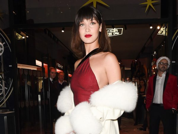 Bella Hadid red boots style