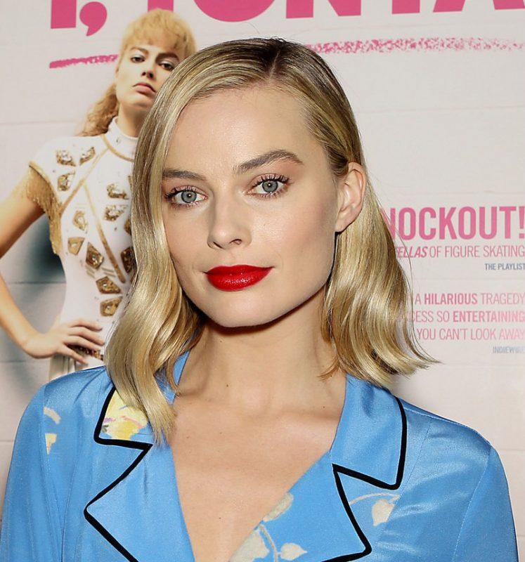 Margot Robbie Fur Slippers Style