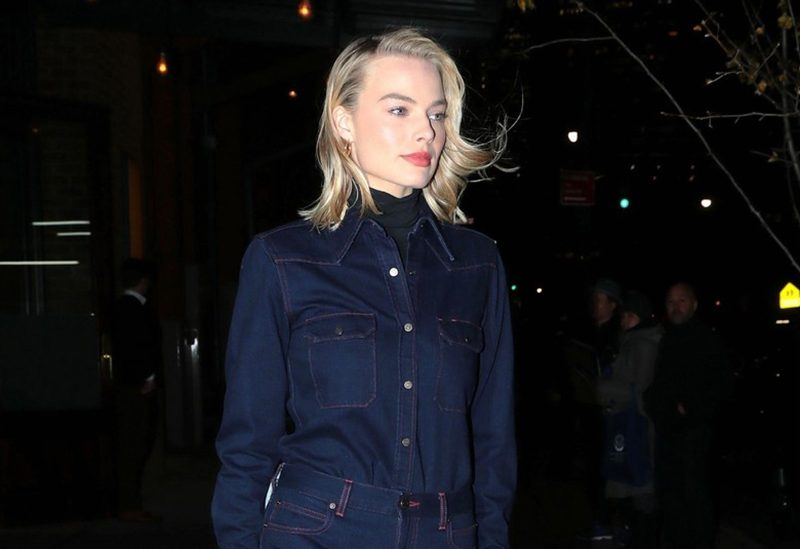 Margot Robbie studded Chelsea ankle boots