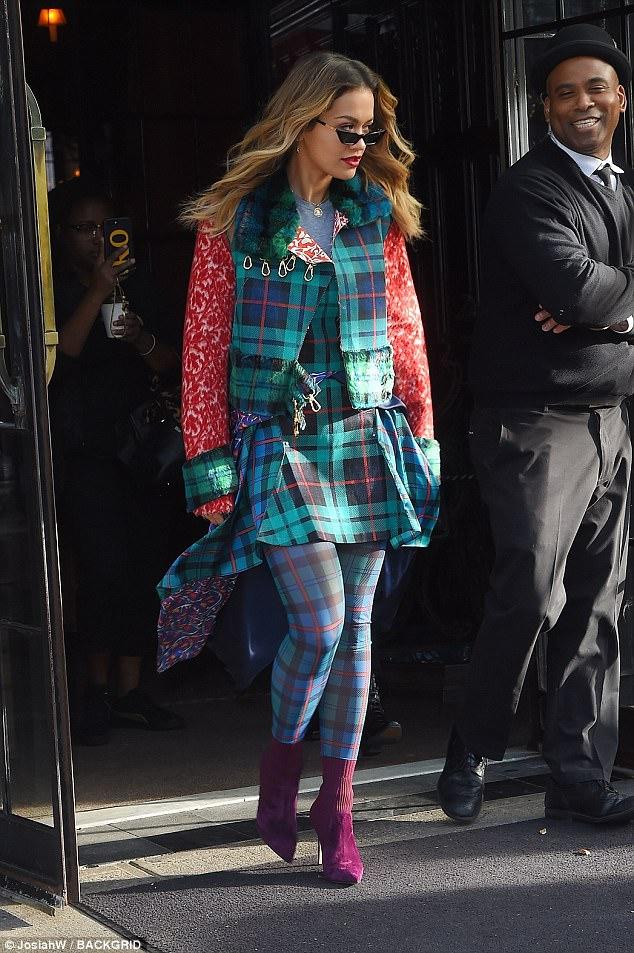 Rita Ora sock boots style