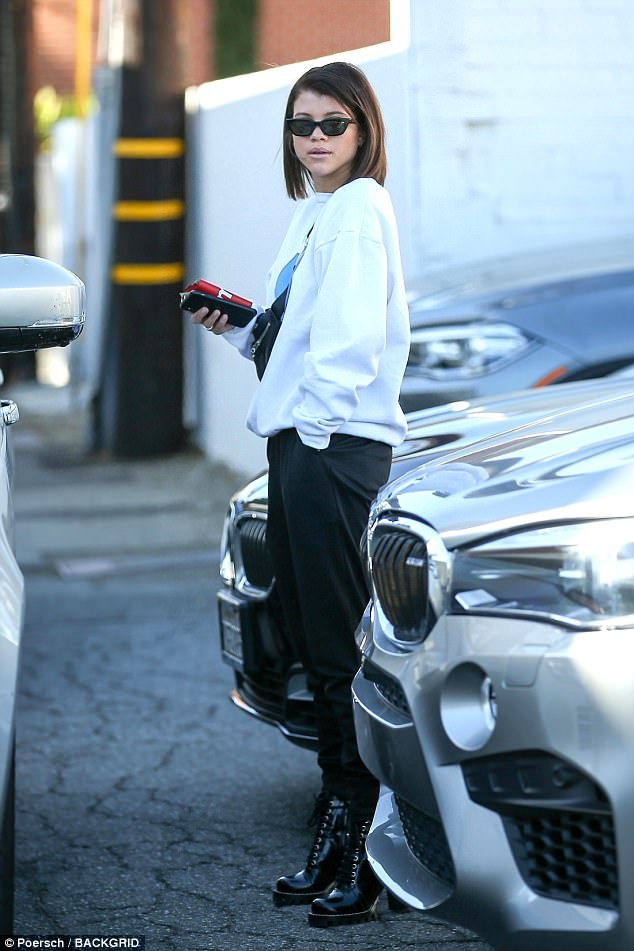 Sofia Richie Chunky Heel Ankle Boots Style