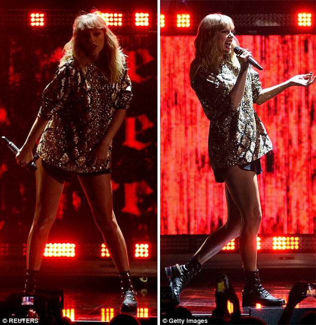 Taylor Swift combat boots style