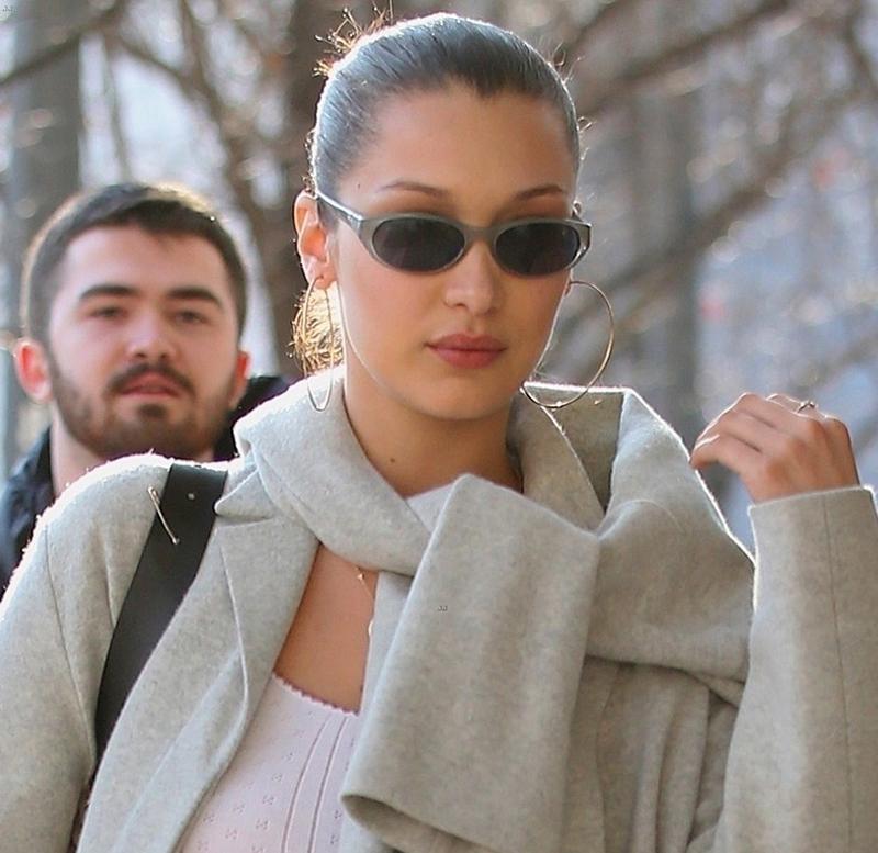 Bella Hadid Milan fashion week street styles