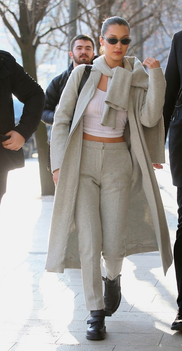 Bella Hadid Milan fashion week street styles
