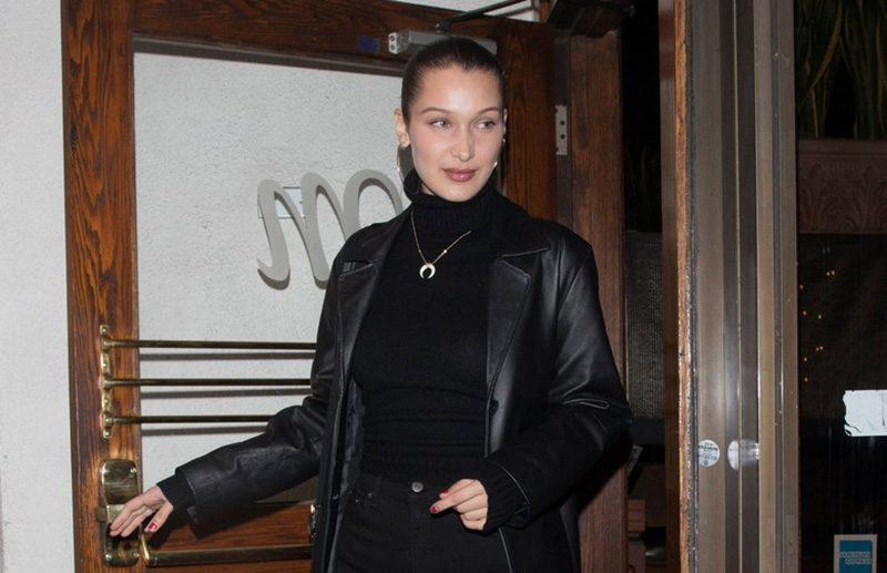 Bella Hadid clear shoes street style
