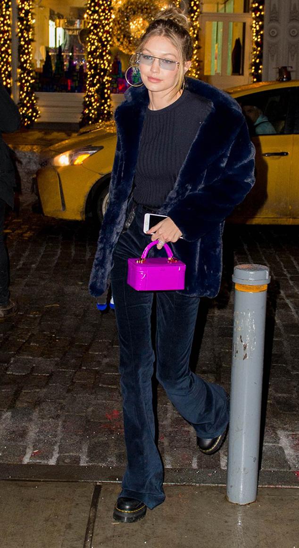 Gigi Hadid combat boots street style
