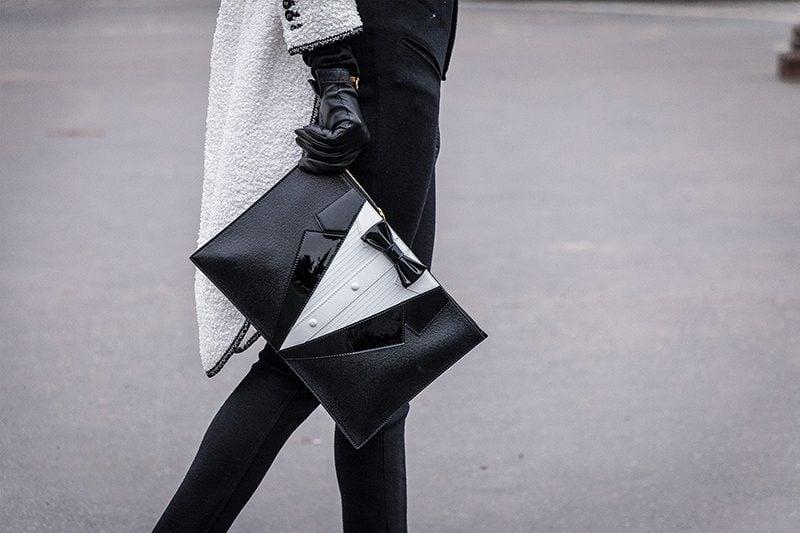 Shoes handbags Paris spring 2018 haute couture street style