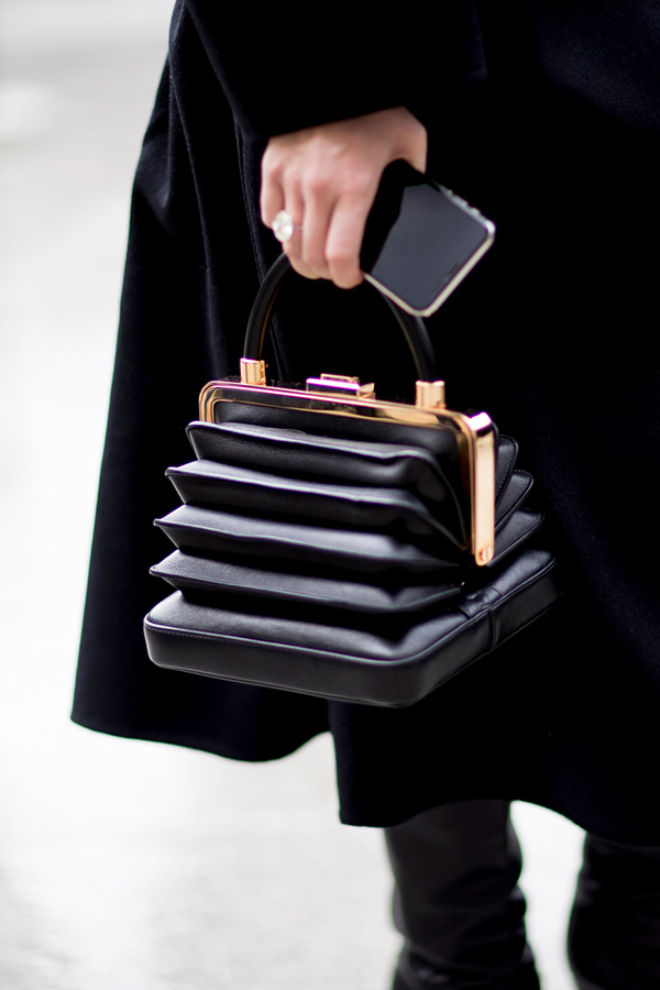 Shoes handbags Paris spring 2018 haute couture street style