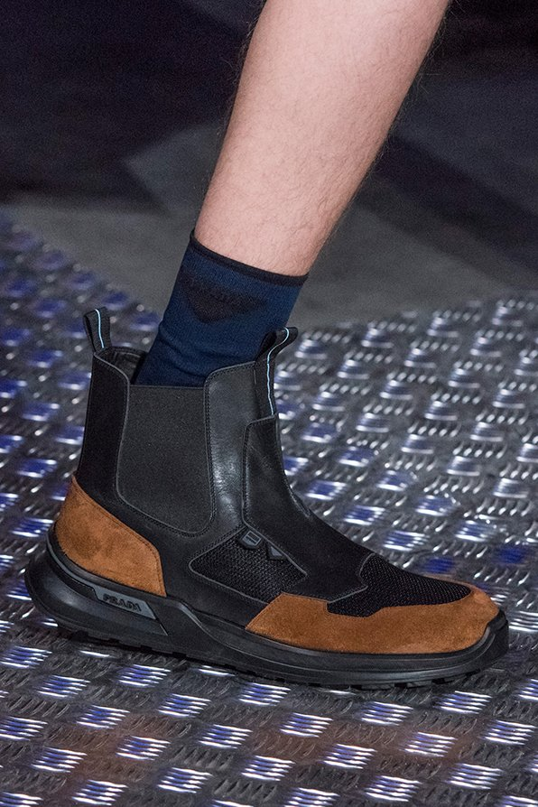 Prada Shoes Fall 2018 Men Collection Are Sports Classic Hybrid